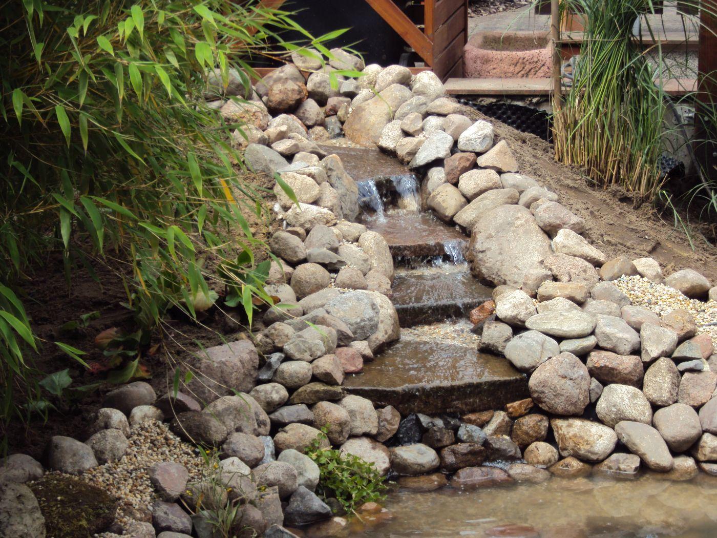 wasserspiele, springbrunnen, bachläufe erstellt in lüdinghausen ... - Naturlicher Bachlauf Garten